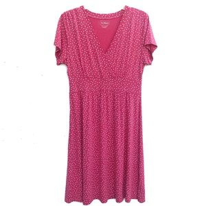 LL Bean | Pink Polka Dot Lightweight Dress